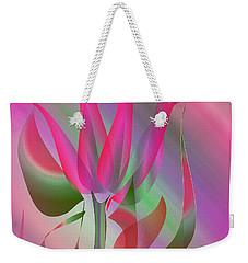 Weekender Tote Bag featuring the digital art Hot Pink by Iris Gelbart