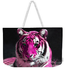 Hot Pink Tiger Weekender Tote Bag