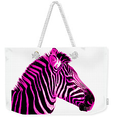Hot Pink Zebra Weekender Tote Bag by Rebecca Margraf