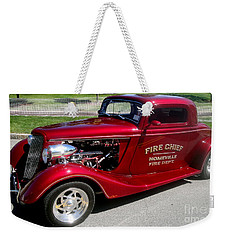 Hot Rod Chief Weekender Tote Bag by Kevin Fortier