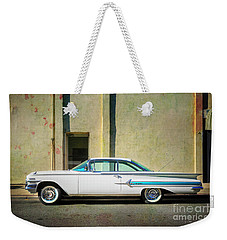 Hot Rod Impala Weekender Tote Bag by Craig J Satterlee