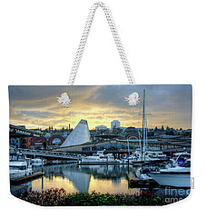 Hot Shop Cone Cloudy Twilight Weekender Tote Bag by Chris Anderson