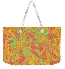 Weekender Tote Bag featuring the photograph Hot Shot Garden by Nareeta Martin