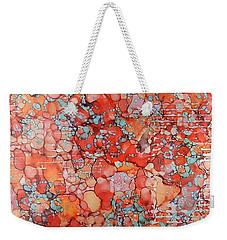 Weekender Tote Bag featuring the painting Hot Spots Ink #21 by Sarajane Helm
