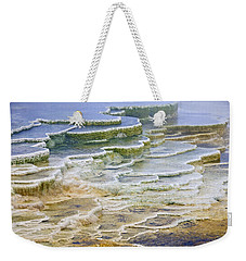 Weekender Tote Bag featuring the photograph Hot Springs Runoff by Gary Lengyel