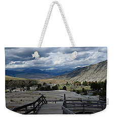 Weekender Tote Bag featuring the photograph Hot Springs Valley by Kae Cheatham