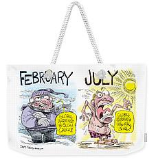 Hot Summer Global Warming Weekender Tote Bag