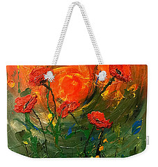 Hot Summer Poppies Weekender Tote Bag by Dorothy Maier