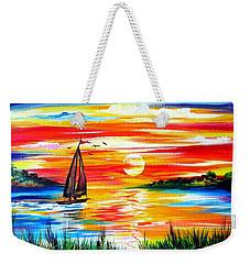 Hot Summer Sunset  Weekender Tote Bag