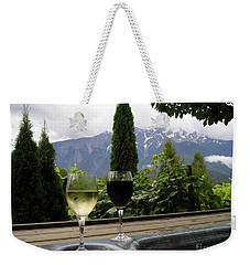 Hot Tub And Wine Weekender Tote Bag by Robert Meanor