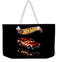 Weekender Tote Bag featuring the photograph Hot Wheels '55 Chevy Nomad 2 by James Sage