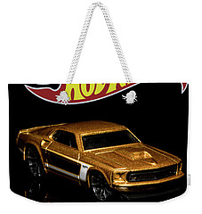 Weekender Tote Bag featuring the photograph Hot Wheels '69 Ford Mustang 2 by James Sage