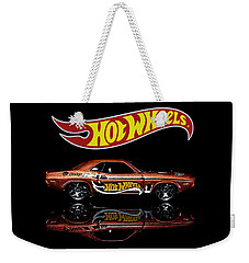 Weekender Tote Bag featuring the photograph Hot Wheels '70 Dodge Challenger by James Sage