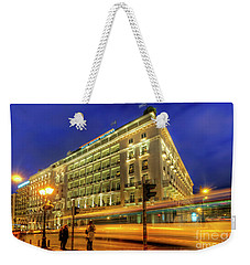 Weekender Tote Bag featuring the photograph Hotel Grande Bretagne - Athens by Yhun Suarez