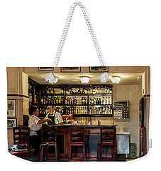 Weekender Tote Bag featuring the photograph Hotel Presidente Bar Havana Cuba by Charles Harden