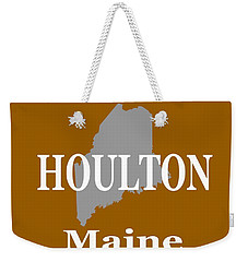 Weekender Tote Bag featuring the photograph Houlton Maine State City And Town Pride  by Keith Webber Jr