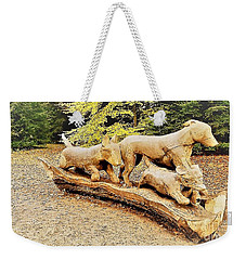 Hounds On The Run Weekender Tote Bag by John Williams