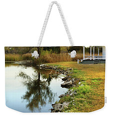 House By The Edge Of The Lake Weekender Tote Bag by Jill Battaglia