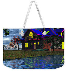 House By The River  Weekender Tote Bag by Mark Blauhoefer