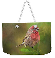 House Finch On Apple Branch 2 Weekender Tote Bag