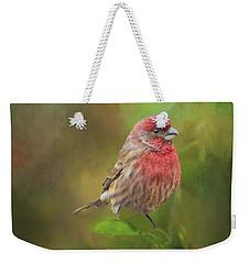 House Finch On Apple Branch 2 Weekender Tote Bag