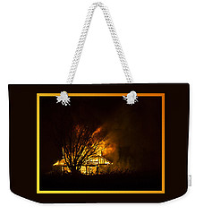 House Fire Weekender Tote Bag