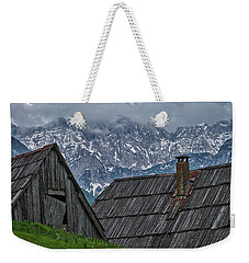 Weekender Tote Bag featuring the photograph House In The Pass #2 - Slovenia by Stuart Litoff