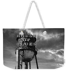 Weekender Tote Bag featuring the photograph House Of Blues B/w by Laura Fasulo