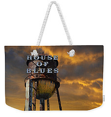 Weekender Tote Bag featuring the photograph House Of Blues  by Laura Fasulo