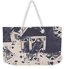 Weekender Tote Bag featuring the photograph House Of Cards by Jorgo Photography - Wall Art Gallery