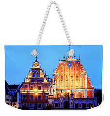 Weekender Tote Bag featuring the photograph House Of The Blackheads by Fabrizio Troiani