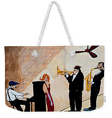 Weekender Tote Bag featuring the painting House Of The Rising Sun by Barbara McMahon