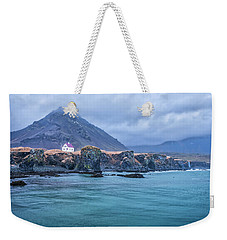 House On Ocean Cliff In Iceland Weekender Tote Bag