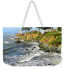 Weekender Tote Bag featuring the photograph House On The Point Cayucos California by Barbara Snyder