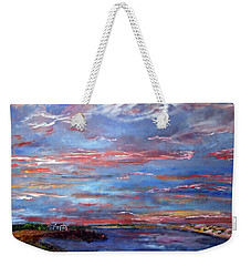 House On The Point Sunset Weekender Tote Bag