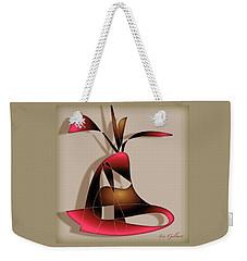 Weekender Tote Bag featuring the digital art House Plant 400 by Iris Gelbart