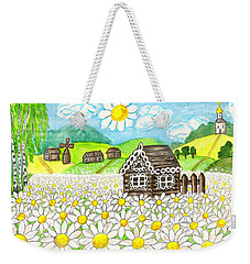 House With Camomiles, Painting Weekender Tote Bag