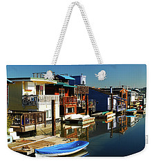 Weekender Tote Bag featuring the photograph Houseboats by James Kirkikis