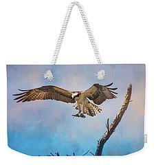 Housekeeping Osprey Art Weekender Tote Bag by Jai Johnson