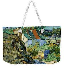 Weekender Tote Bag featuring the painting Houses In Auvers by Van Gogh