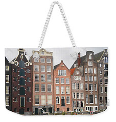 Weekender Tote Bag featuring the photograph Houses Of Amsterdam by Therese Alcorn