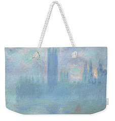 Houses Of Parliament  London Weekender Tote Bag by Claude Monet