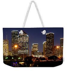 Houston Skyline At Night Weekender Tote Bag