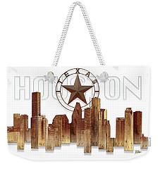 Houston Texas Skyline Weekender Tote Bag