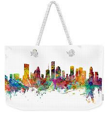 Houston Texas Skyline Panoramic Weekender Tote Bag