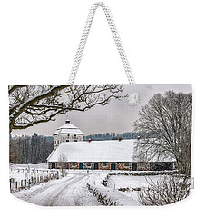 Hovdala Castle Stables In Winter Weekender Tote Bag