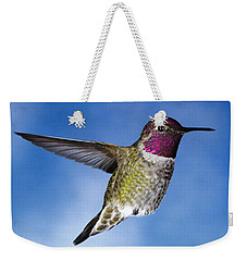 Hovering In Sky Weekender Tote Bag by William Lee
