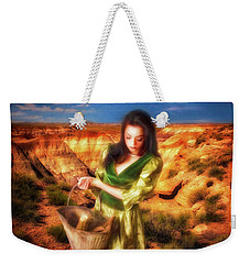Weekender Tote Bag featuring the photograph How Come The Men Get Shoes  ... by Chuck Caramella