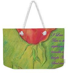 How Do I Love Thee ? Weekender Tote Bag
