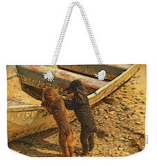 How Far Do You Think We Can Go In This? Weekender Tote Bag